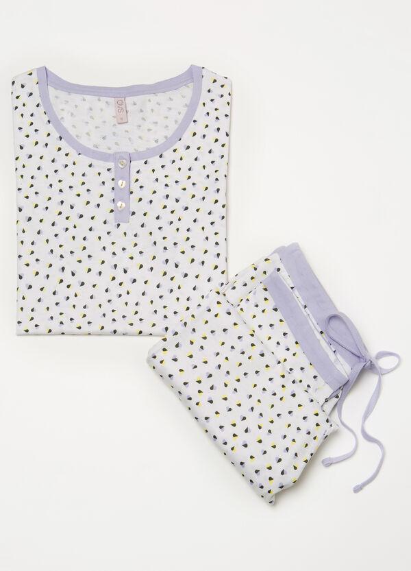 100% cotton pyjamas with hearts | OVS
