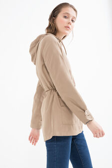 Solid colour windbreaker with pockets, Golden Yellow, hi-res