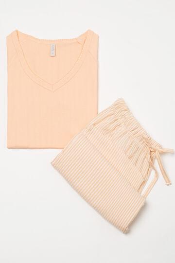 Striped patterned pyjamas in 100% cotton