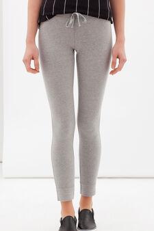 Leggings misto cotone stretch, Grigio, hi-res