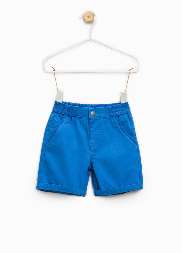 Cotton Bermuda shorts with turn-up | OVS