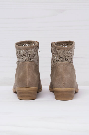 Suede-effect boots, Grey, hi-res