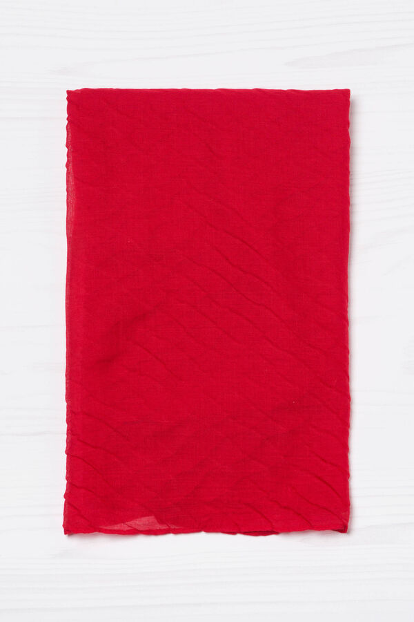 Solid colour pleated scarf | OVS