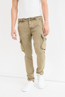 Slim-fit cargo-cut chinos, Light Brown, hi-res