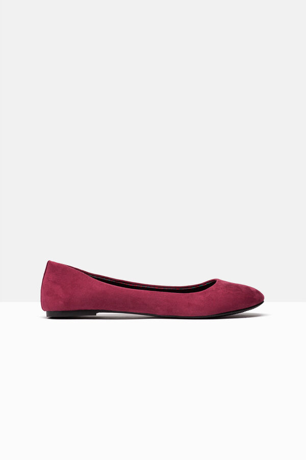 Suede-effect ballerina pumps with round toe | OVS