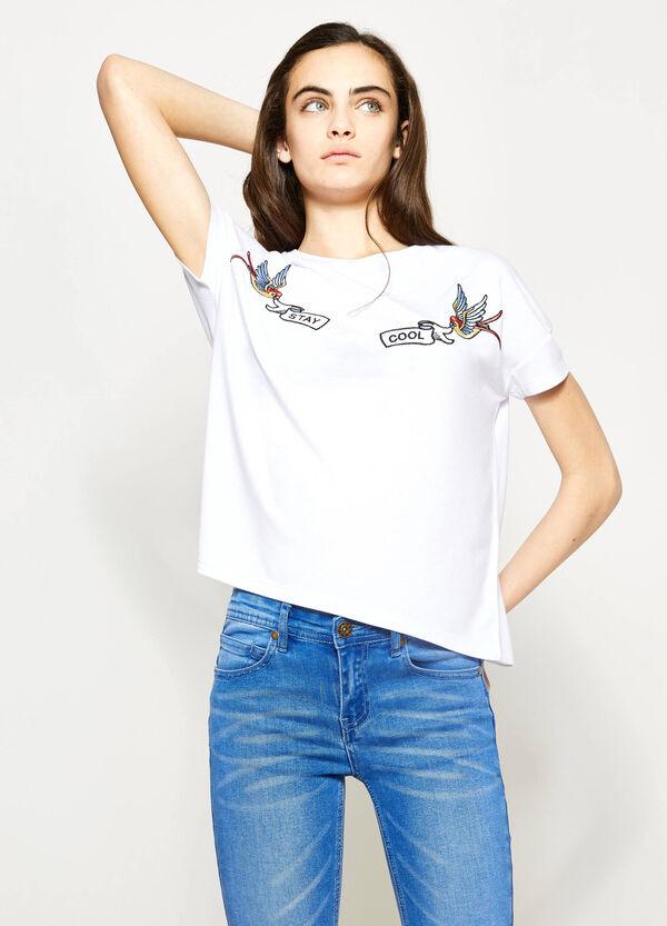 Camiseta con bordados Teen | OVS