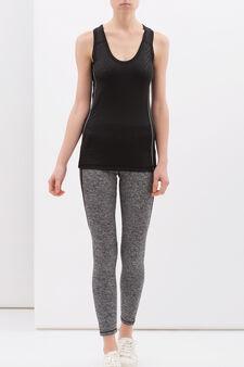 Pantaloni stretch sportivi, Nero/Grigio, hi-res