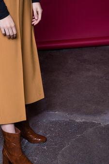 Pantaloni gaucho con piega, Giallo ocra, hi-res