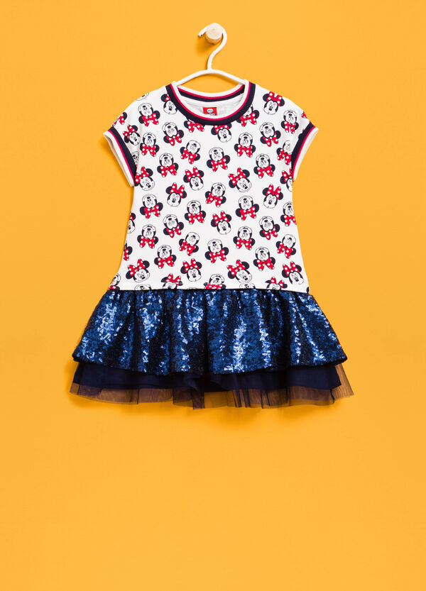 Minnie Mouse patterned dress with sequins | OVS