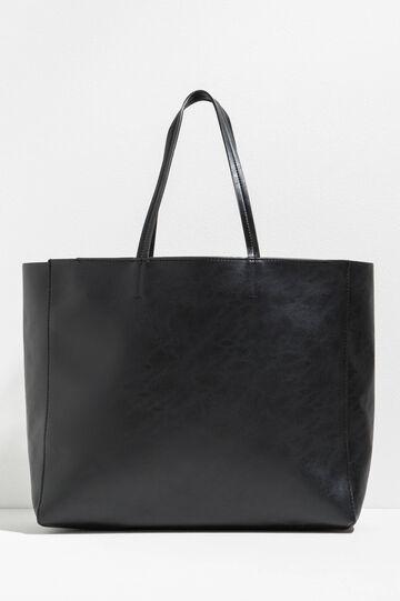 Hammered-effect shoulder bag