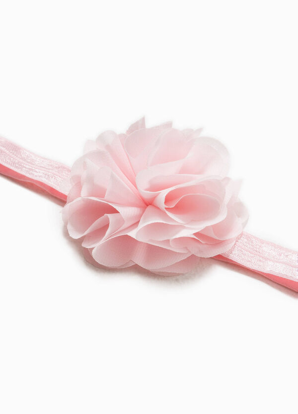 Glitter hair tie with flower   OVS