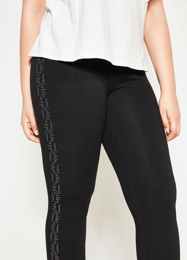 Leggings in cotone con strass Curvy | OVS