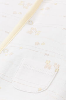 Patterned onesie in 100% cotton, Yellow, hi-res