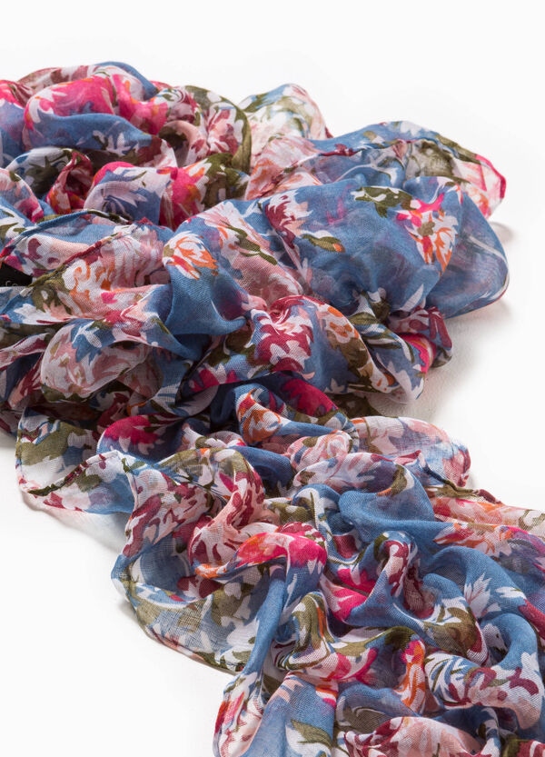 Gathered effect scarf with floral pattern | OVS