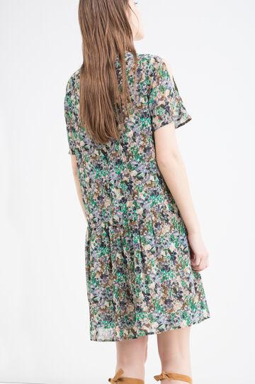 Floral print short dress, Green, hi-res