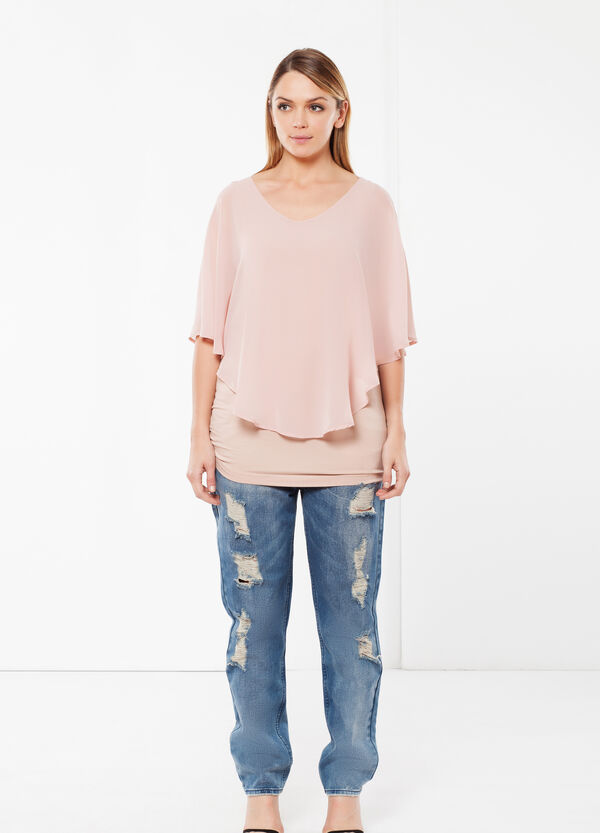 Curvyglam blouse with poncho | OVS