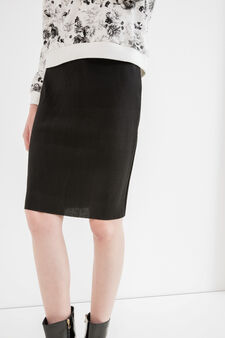 High-waisted pencil skirt, Black, hi-res