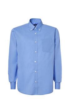 Plain, regular-fit shirt, Light Blue, hi-res