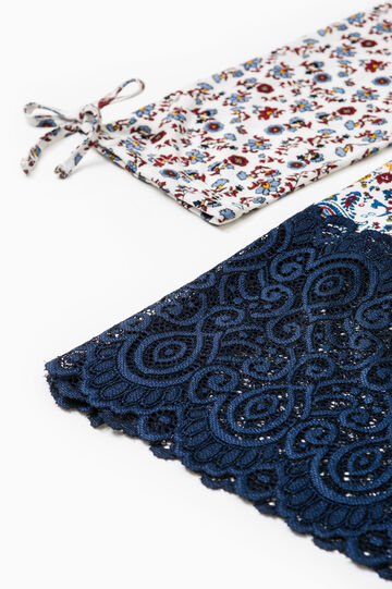Nightshirt with lace hem, Cream White, hi-res