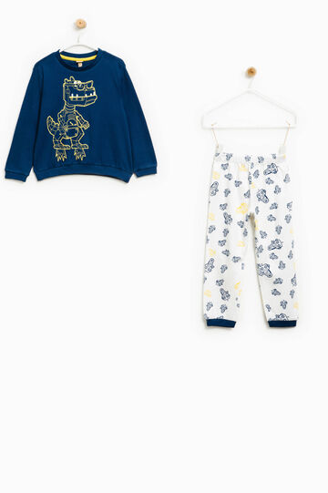 Cotton pyjamas with robot pattern