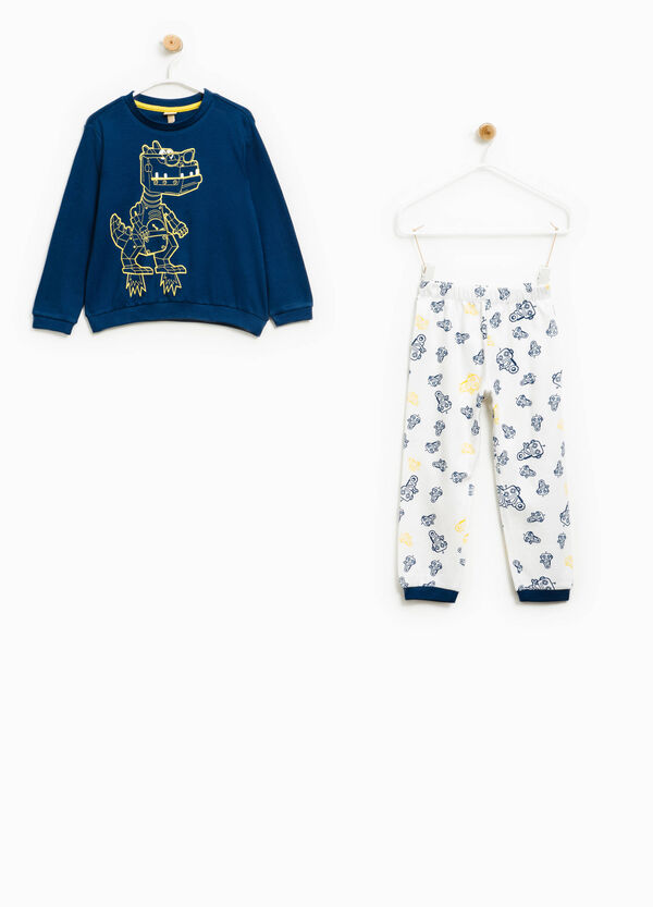 Cotton pyjamas with robot pattern | OVS