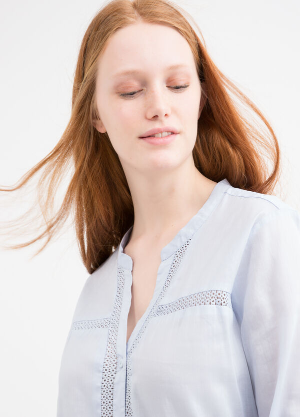 Curvy solid colour blouse. | OVS