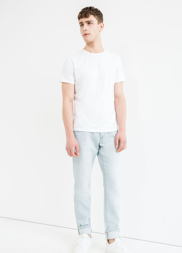 Straight-fit jeans with buttons fastening | OVS