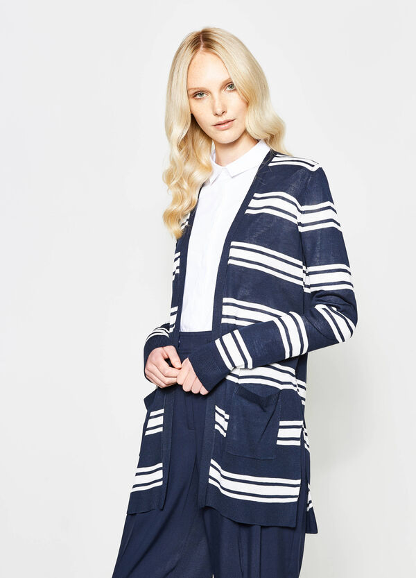 Striped cardigan without buttons | OVS