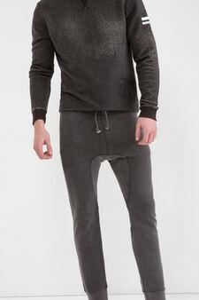 Pantaloni tuta con coulisse, Nero, hi-res
