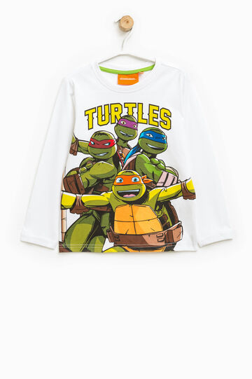 T-shirt with Teenage Mutant Ninja Turtle print, Off-white, hi-res