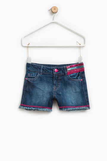 Denim shorts with sequins