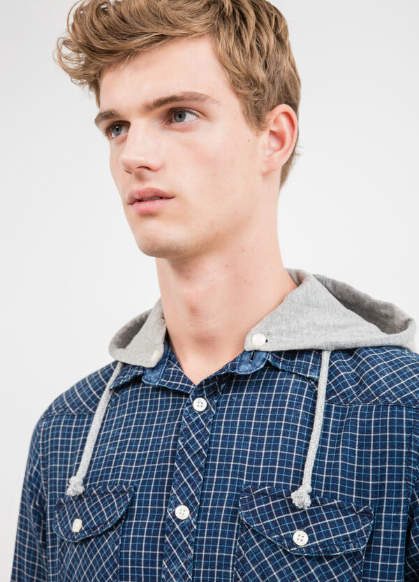 G&H check casual shirt with hood | OVS