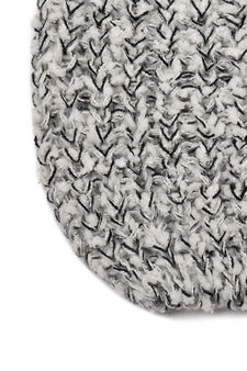 Knitted beanie cap, Off-white, hi-res