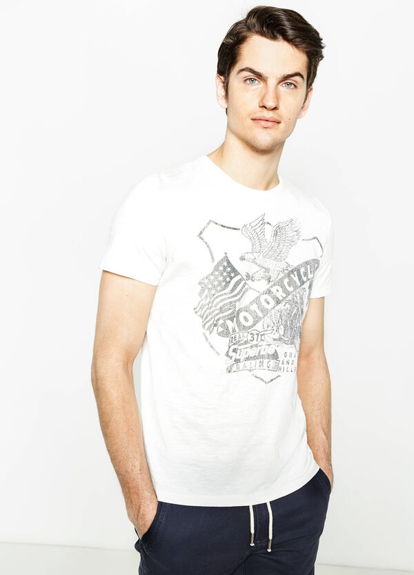 T-shirt in 100% cotton with G&H print | OVS