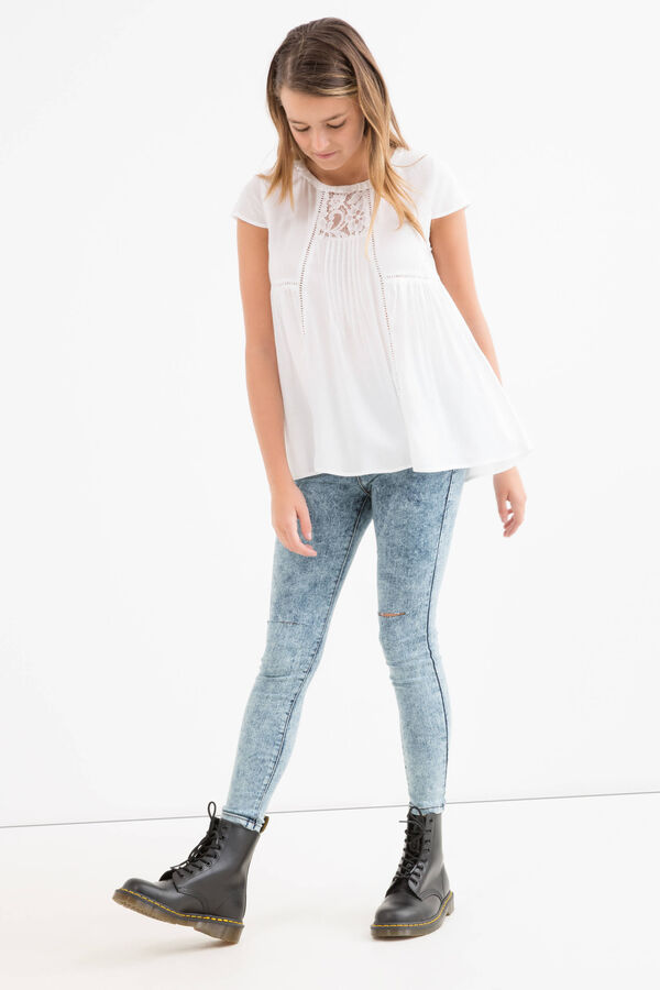 Blusa pura viscosa plissé Teen | OVS