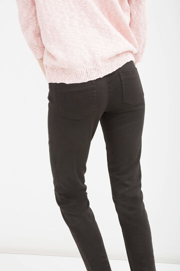 Plain stretch jeans, Black, hi-res