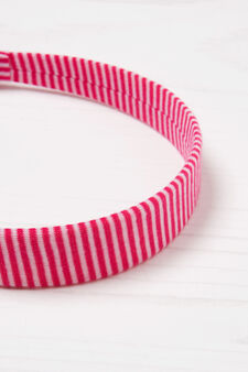 Patterned hairband with laces, White/Pink, hi-res