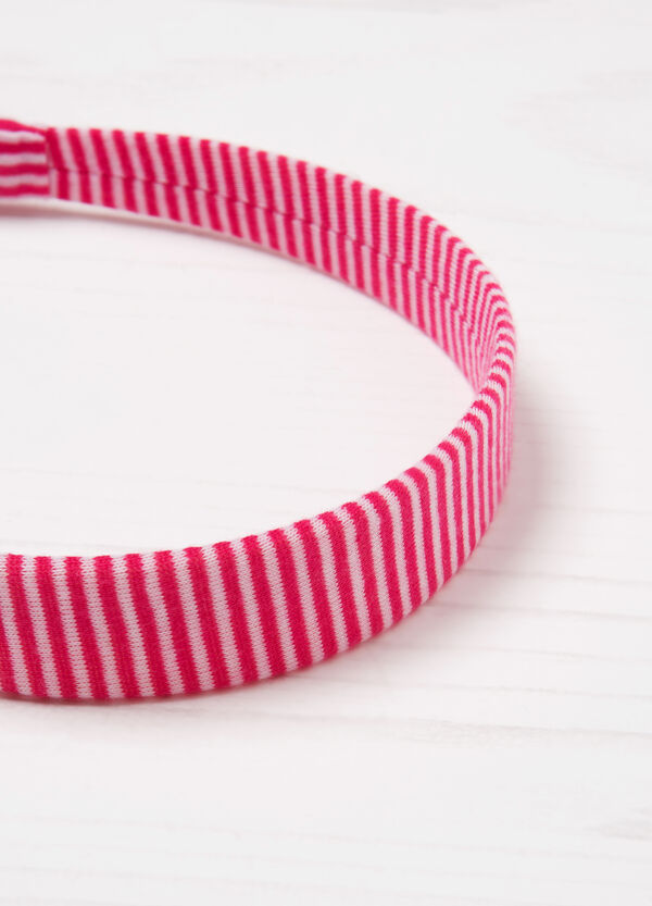 Patterned hairband with laces | OVS