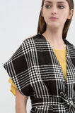 Cardigan with pattern in contrasting colour., Black/White, hi-res