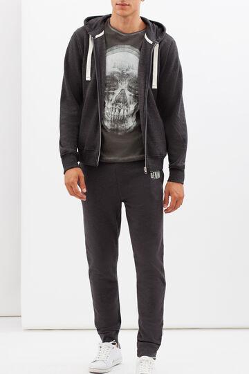Sweatshirt with contrasting drawstring, Dark Grey, hi-res