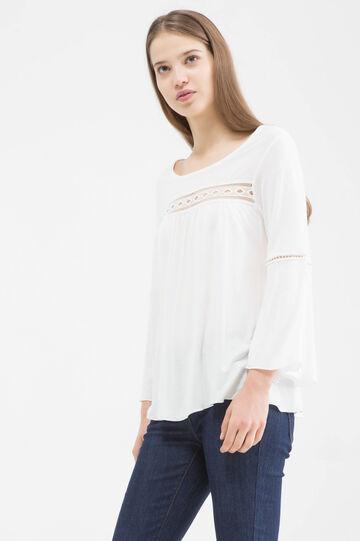 100% viscose T-shirt., White, hi-res