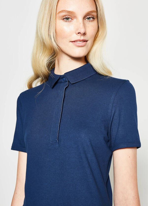 Polo shirt in cotton with snap buttons | OVS