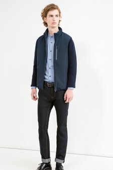 Jacket with contrasting sleeves, Navy Blue, hi-res