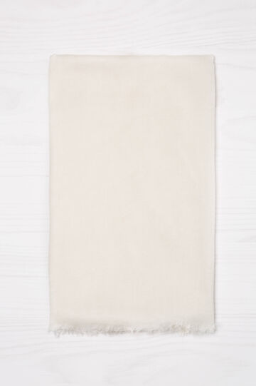 Sciarpa in pura viscosa, Bianco panna, hi-res