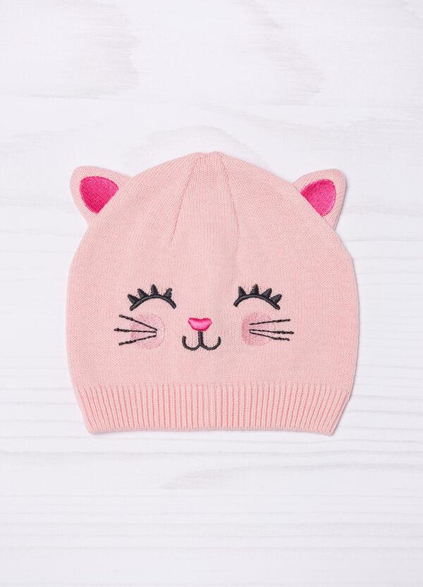 Embroidered cotton beanie cap | OVS
