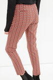 High waisted patterned stretch trousers, Red, hi-res