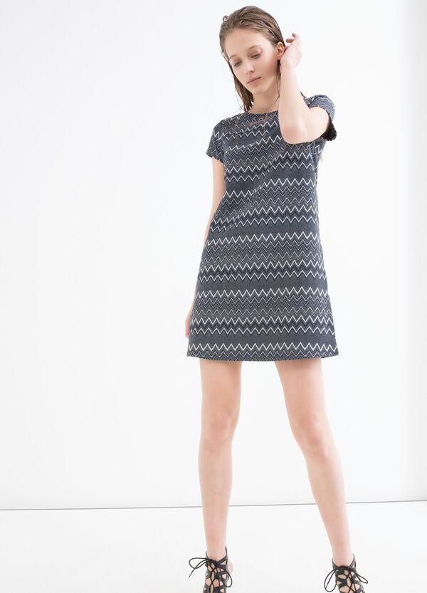 Stretch printed dress with lurex   OVS