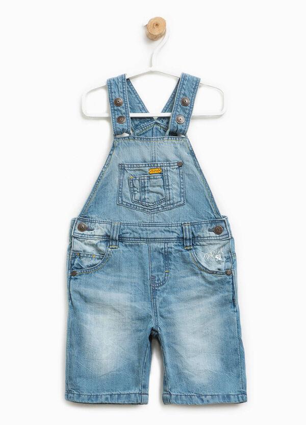 Salopette di jeans delavata | OVS