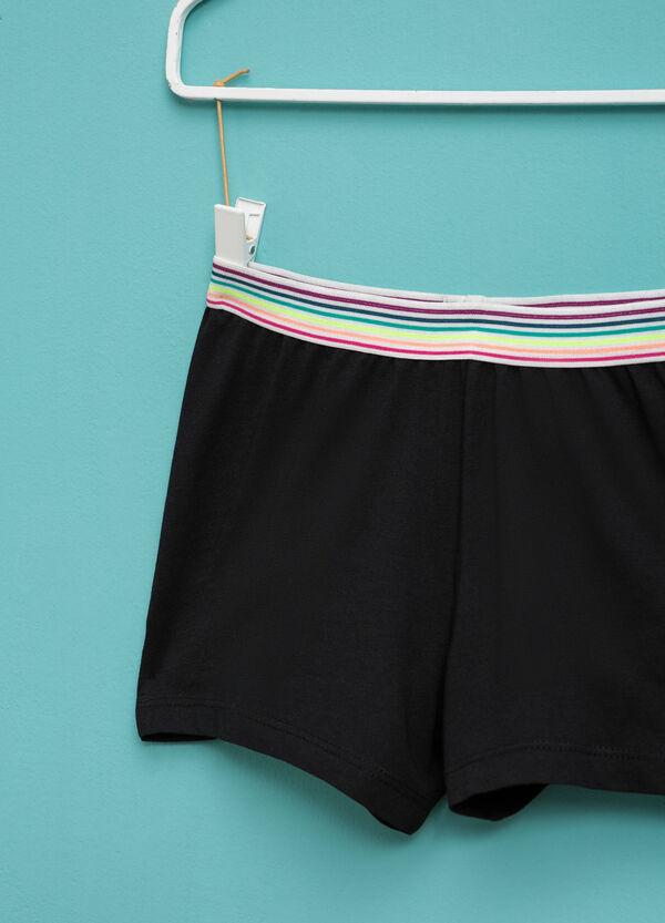 Shorts con vita elasticata a righe | OVS