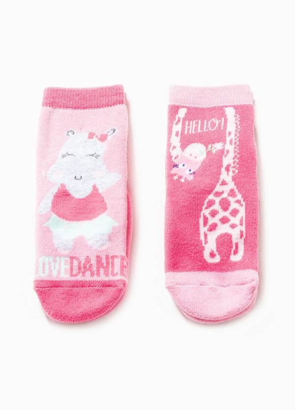 Set due paia di calze antiscivolo ricamate | OVS